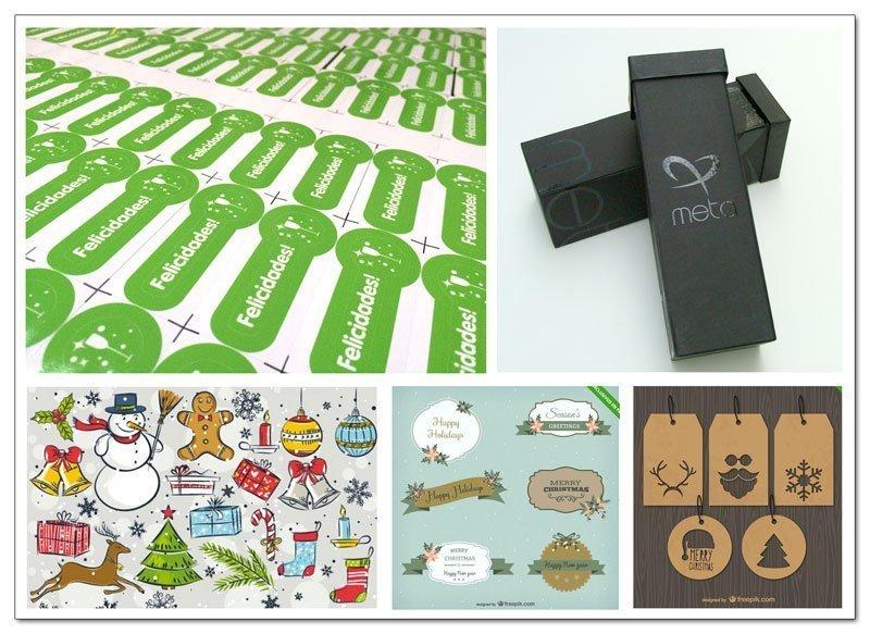 Etiquetas autoadhesivas personalizadas para regalos y fiestas de fin de añoo
