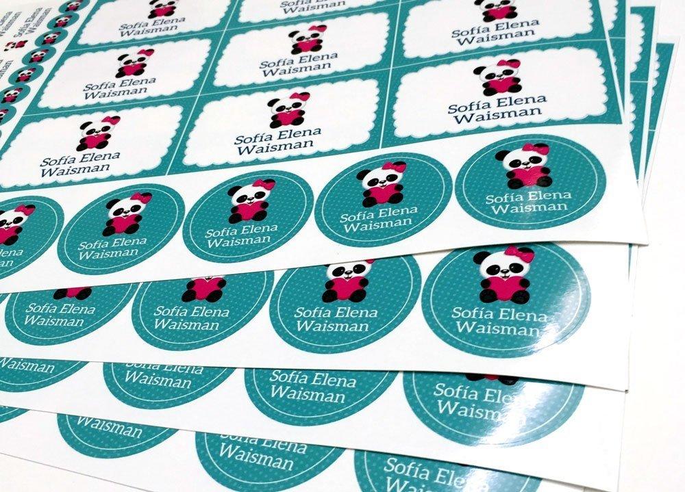 Etiquetas para útiles escolares personalizadas