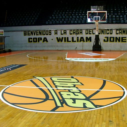 Floor Graphics de Cancha de basket - Estadio Obras
