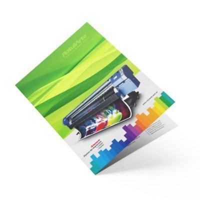 Impresión de folleto díptico en 24 hs