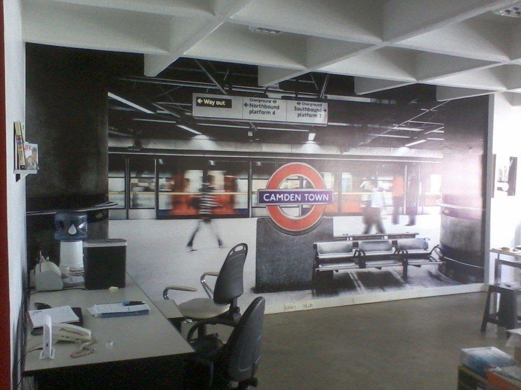 Foto Mural footgrafico para empresa, oficina