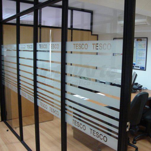 Franjas esmeriladas - frosted para oficina