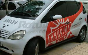 Ploteo para publicidad de vehículo particular