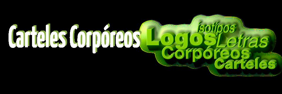 Carteles Corpóreos - Letras y Logos