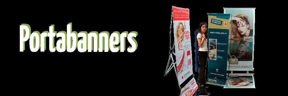 Portabanners -  Estructuras para banners publicitarios