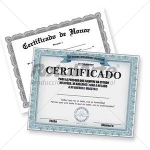 Impresión de Diplomas y Certificados para congresos
