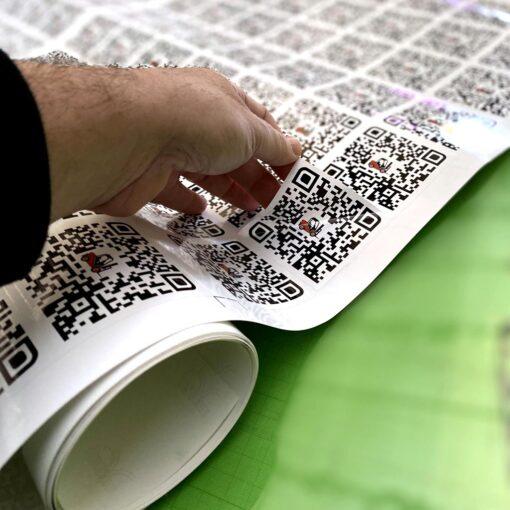 Impresión de etiquetas para código QR