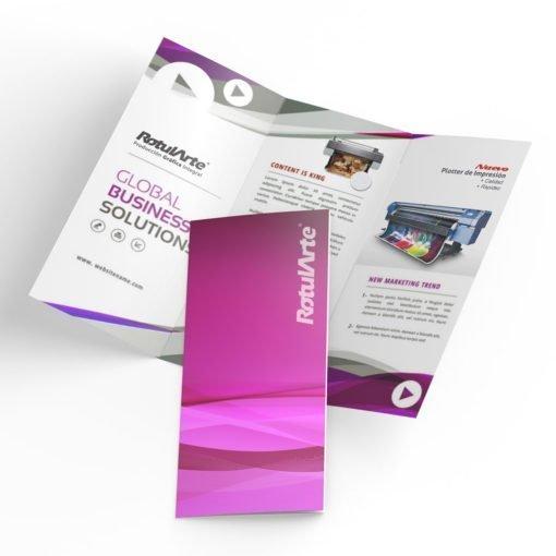 Impresión de folletos trípticos urgentes