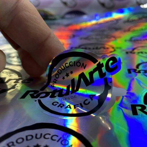 Impresión OPP Holográfico Autoadhesivo