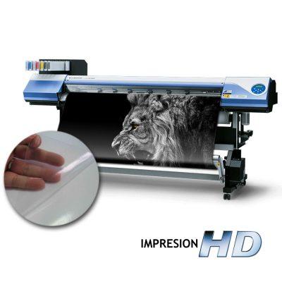 Impresión en vinilo Clear transparente