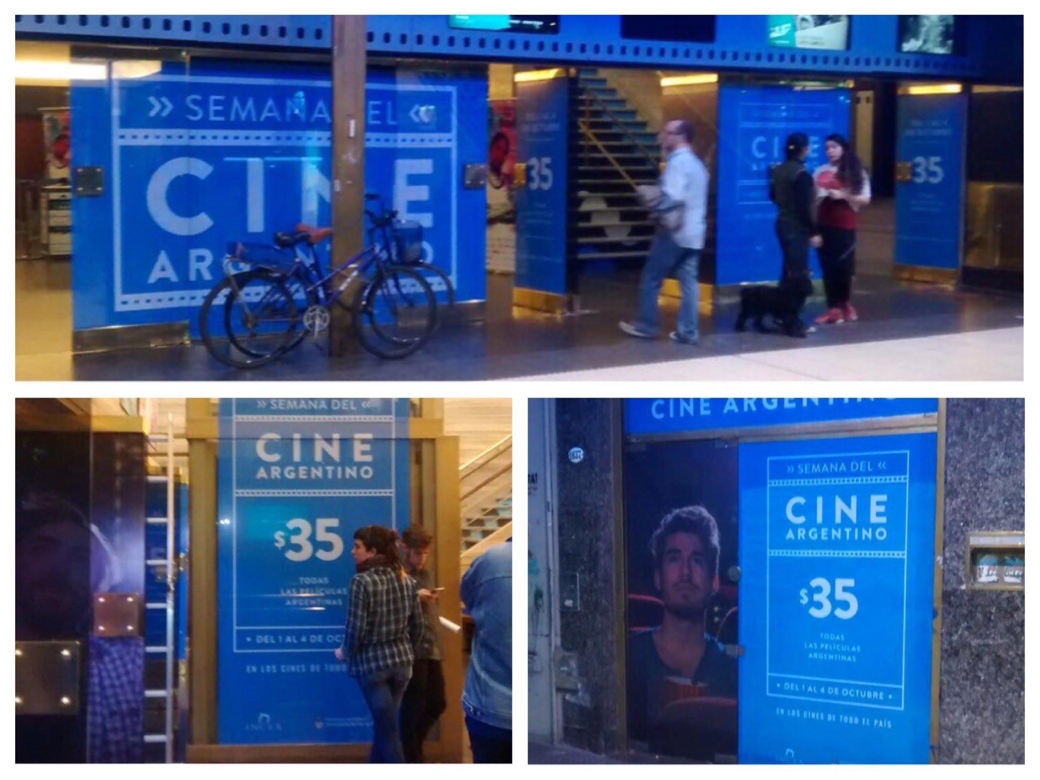 Vinilo microperforado cine Gaumont - INCAA