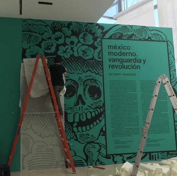 Proceso de instalación - Gráfica Malba - Mexico Moderno