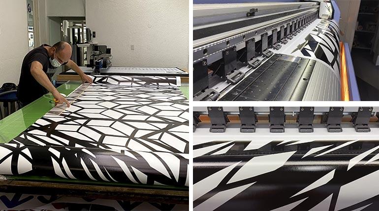 Proceso de impresión - Instalación Peter Kogler - Fundación Proa