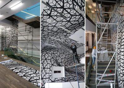 Instalación en Techo y Escaleras - Fundación Proa