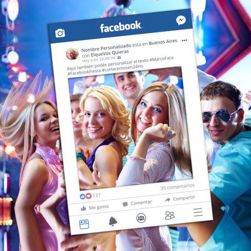 Marco para Fiestas de Facebook - Foam-Board 70x104 cm