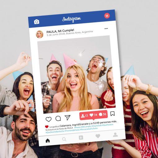 Marco para Fiestas - Instagram - Photocall - Cartel 70x100 cm