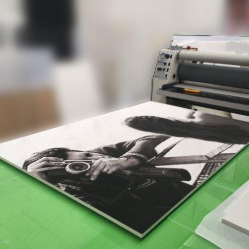 Montaje en Foam-Board Blanco de 5 mm de espesor