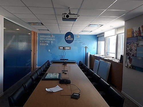 Mural interior oficina