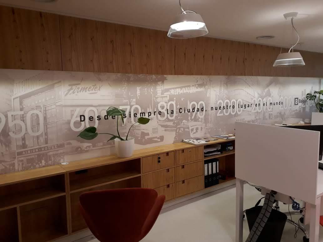 Mural personalizado para Inmobiliaria Baigún