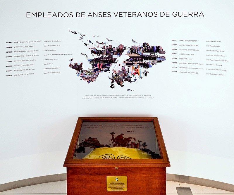 Mural veteranos de guerra - ANSES
