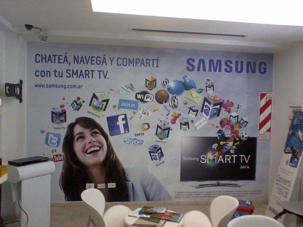 Mural Samsung Local Comercial Publicitario