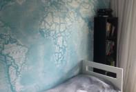 Mural para dormitorio / Mapamundi