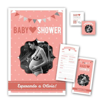 Pack Baby Shower - Poster - Souvenir - Juego