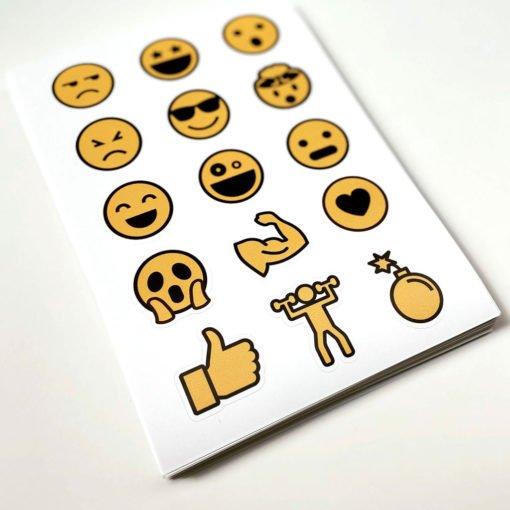 Plancha con stickers Originales - Impresión Personalizada