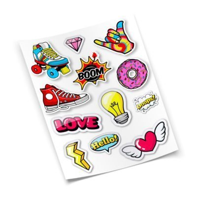 Plancha de Stickers Personalizados en Vinilo Autoadhesivo