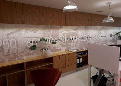 Ploteo interior Oficina - Baigún