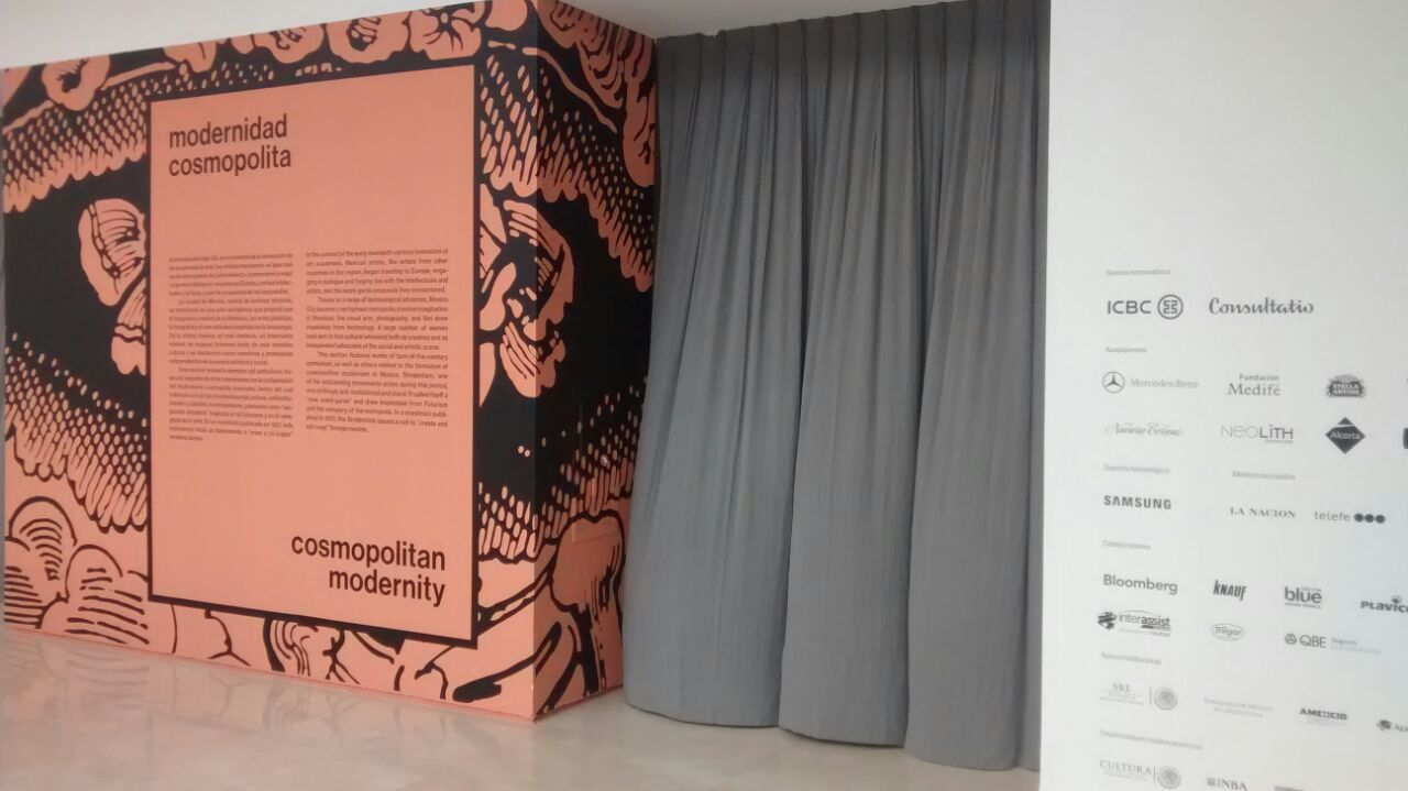 Ploteo para Pared - Muestra Mexico en Malba