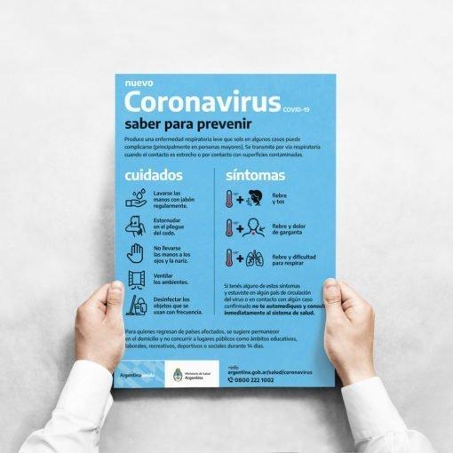 Poster Afiche Autoadhesivo - Coronavirus - Covid19