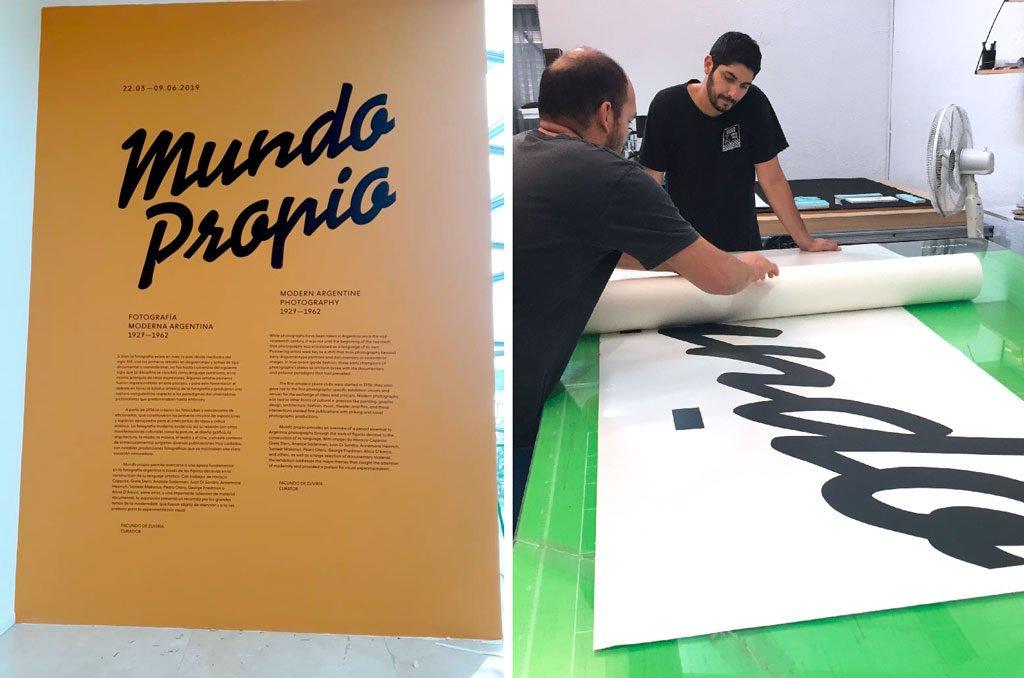 Instalación y producción gráfica para museos