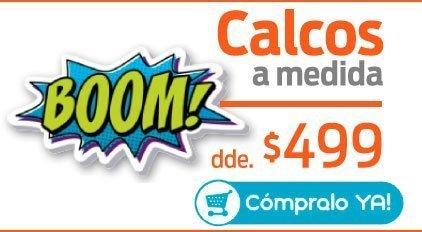 Promo $499 Calcos Personalizadas - Compralas Online - Tenelas en 24 Hs.