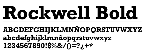 Rockwell Bold