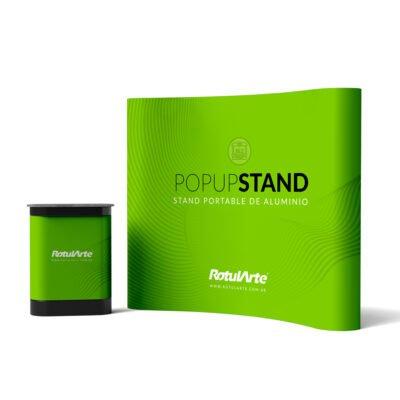 Stand Pop-Up Portátil - Transporatble - Desarmable - Aluminio - Valija