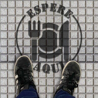 Stencil para Boldosas - Distanciamiento Social - Covid19