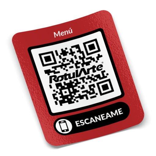Sticker Autoadhesivo - Menu QR - Restaurante