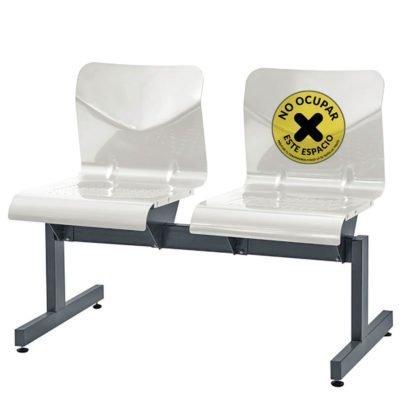 Sticker de NO UTILIZAR silla en lugares con sala de espera