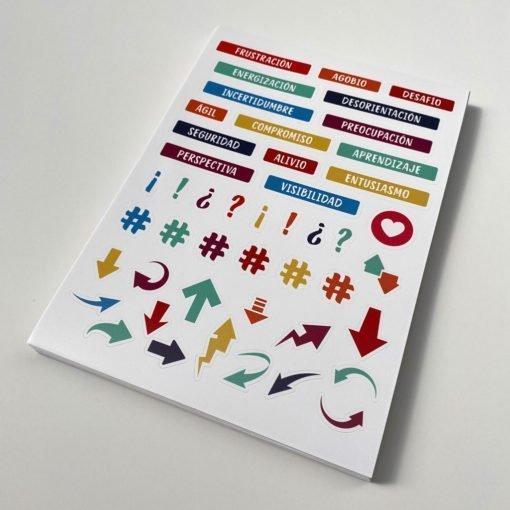 Stickers personalizados en Planchas Troqueladas