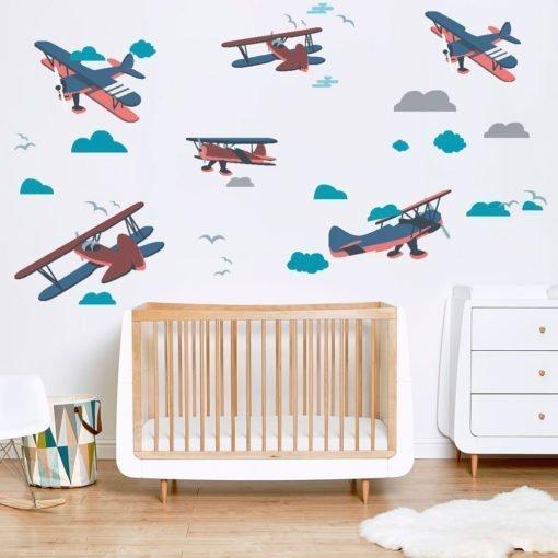 Vinilo decorativo Infantil - Aviones