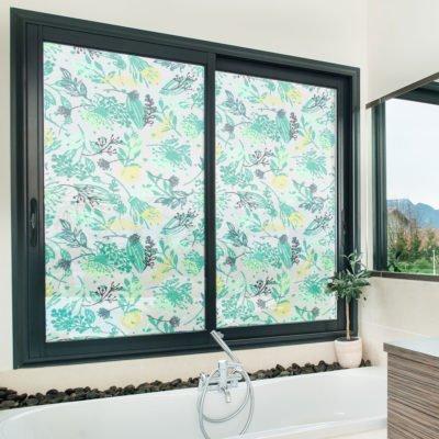 Vinilo decorativo esmerilado impreso para ventanas