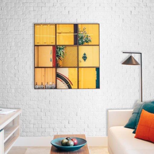 Vinilo decorativo para pared personalizado Textura de Ladrillos Blancos