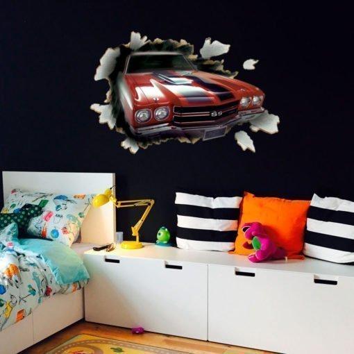 Vinilo para Pared - Auto Chevrolet Camaro 3D