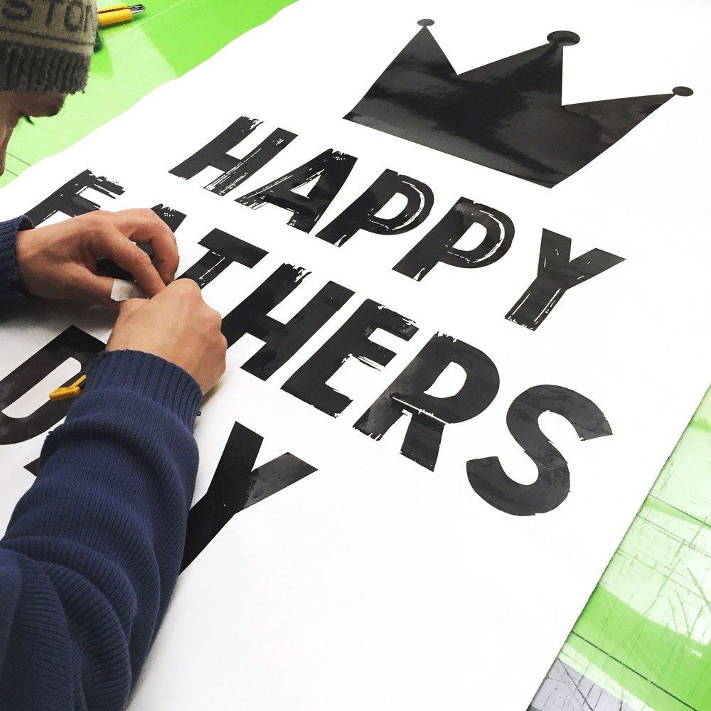 Vinilo promoción día del Padre